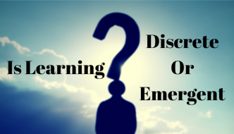 Is learning a discrete or emergent phenomena?