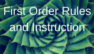 First Order Rules and Instruction